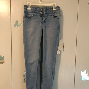 Light wash high waisted  skinny jeans